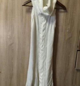 Платье безрукавка, вязанное