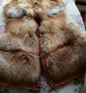 Меховая жилетка из лесы