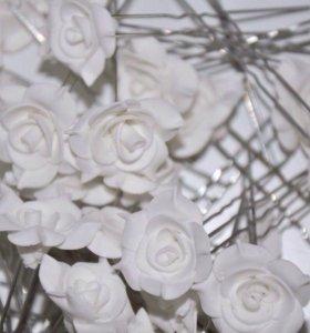 Шпильки с цветами новые