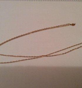 Золотая цепочка с алмазной гранью
