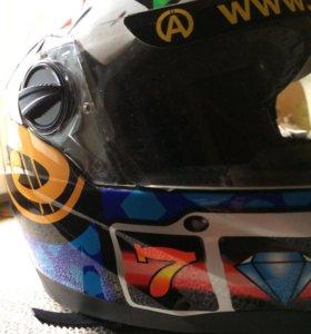 Шлем для картинга размер 55-46см