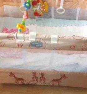 Манеж-кровать Happy baby Tomas