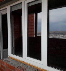 Балконный блок пластиковое окно