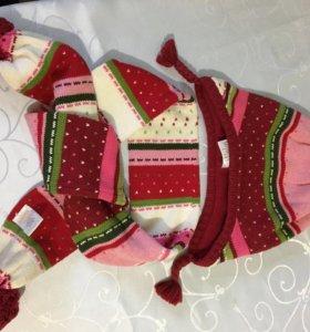 Шапка и шарф для девочки