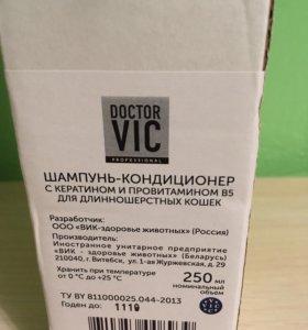Шампунь-кондиционер для кошек Doctor Vic