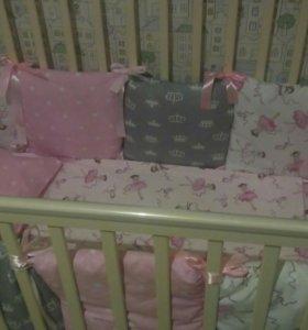 Бортики подушки и кпб