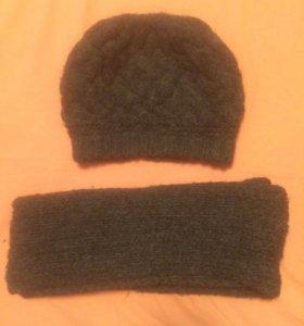 Берет и шарф тёплые