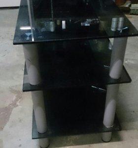 Тумба, подставка под телевизор,стеклянный стол