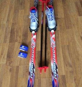 Лыжи + Ботинки лыжные 31р.