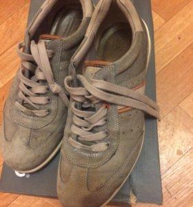 Кожаные замшевые ботинки.экко.Европа