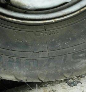 Колёса в сборе два колеса