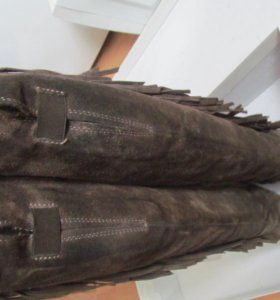 сапоги замшевые с бахрамой