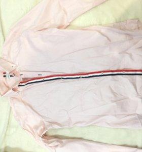Розовая мужская рубашка zara