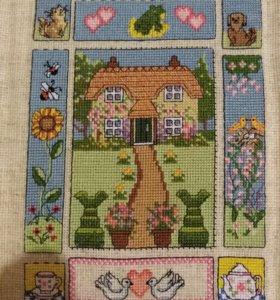 Вышивка крестом милый дом