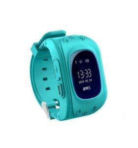 Детские бирюзовые умные часы Smart baby watch Q50