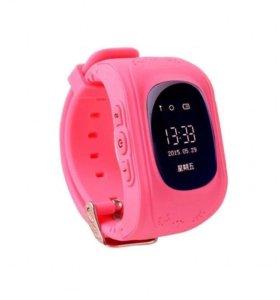Детские розовые умные часы Smart baby watch Q50
