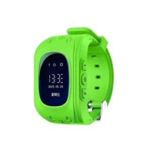 Детские зеленые умные часы Smart baby watch Q50