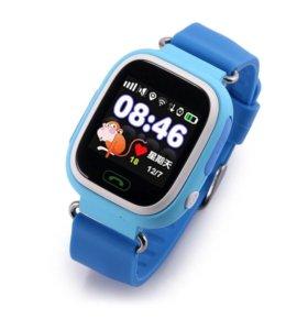 Детские синие часы Q90