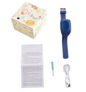 Детские умные синие часы Q50