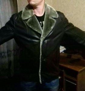 Мужская кожанная куртка зимняя