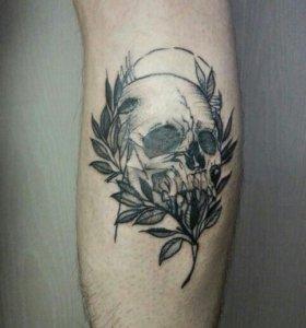 Художественная татуировка, перекрытие шрамов, тату