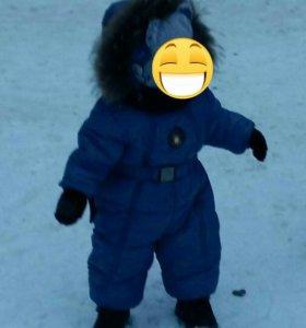 Зимний комбинезон  +шапка
