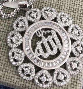 Подвеска мусульманская из серебра 925 пробы