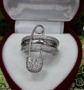 Кольцо-булавка из серебра (новое)