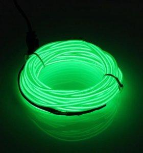 Неоновая нить зелёная 5 метра