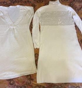 Теплые платья туники