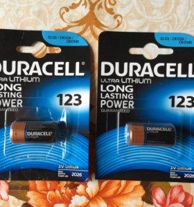 Батарейки Duracell CR123a