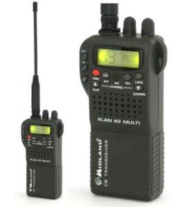 СВ-радиостанция Alan42 Midland новая гар-я дост-ка