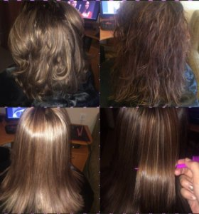 Биопротеиновое кератиновое выпрямление волос