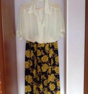 Комплект ( блузка и юбка)