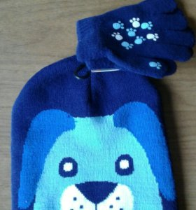 Шапочка и перчатки на 3 года