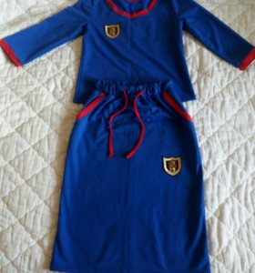 Костюм,блуза с юбкой