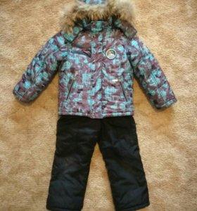 Зимний комбинезон на мальчика 4-6 лет