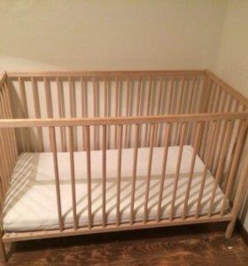 Детская кровать,матрас,одеяло, белье комплект.
