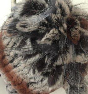 Шапка зимняя мех натуральный кролик