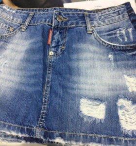 Юбка джинс новая