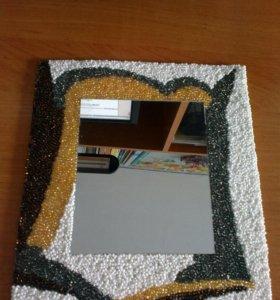 Зеркало декорированное бисером