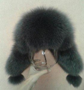 Новая меховая шапка-ушанка женская