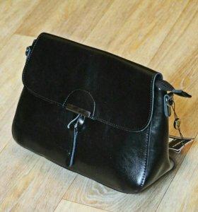 Женская сумка-клатч, натуральная кожа