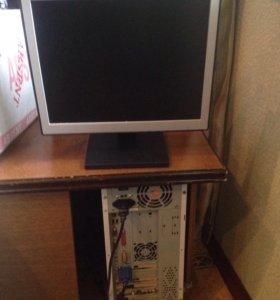 Компьютер и монитор NEC