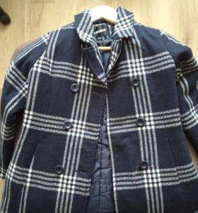 Пальто школьное, рост 134