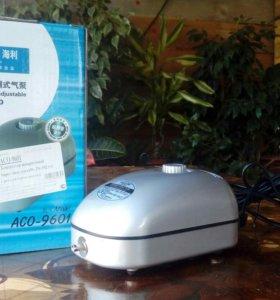 Компрессор аквариумный HaiLeo-ACO9601 . 192л/ч