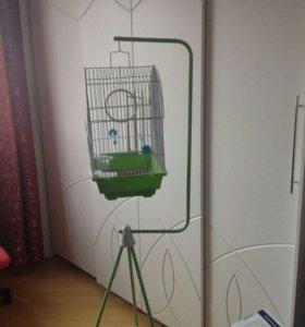 Клетка для попугая с держателем