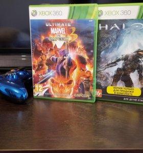Две игры Xbox 360: Marvel vs Capcom 3 и Halo 4
