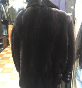 black glama норка полушубок муж.