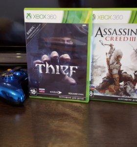 Две игры Xbox 360: Assassin's Creed 3 и Thief
